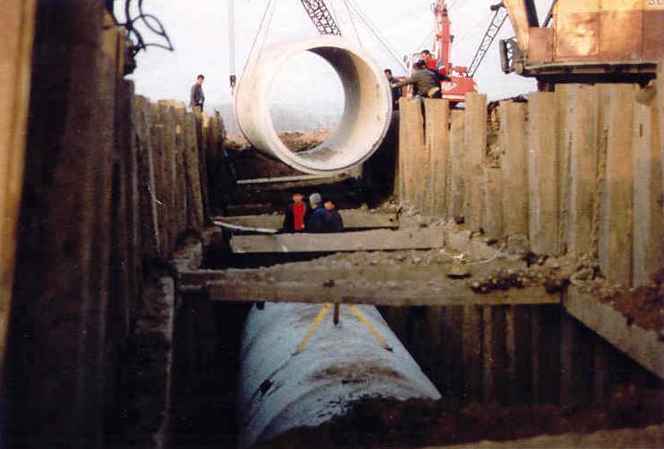 """""""Bahçecik-Gölcük Arası Kanalizasyon İnsaatı"""" Çelik İksa Palplanş Uygulamaları"""